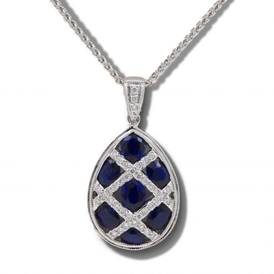18ct Gold Sapphire and Diamond Necklace