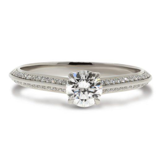 Platinum Knife edge 0.50ct Diamond Ring