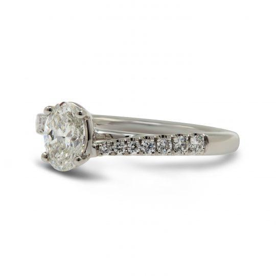 Platinum Capri Oval 0.70ct Diamond Ring