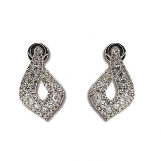 18ct White Gold 1.12ct Diamond earrings