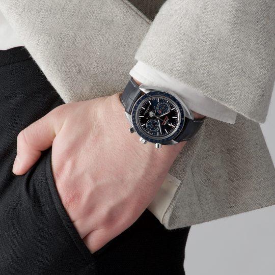 Omega SpeedMaster Blue 44.25mm Steel Gents Watch