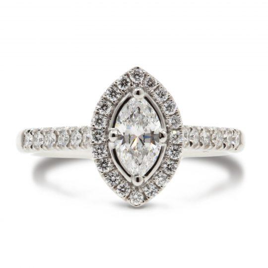Platinum Skye Marquise 0.51ct Diamond Ring