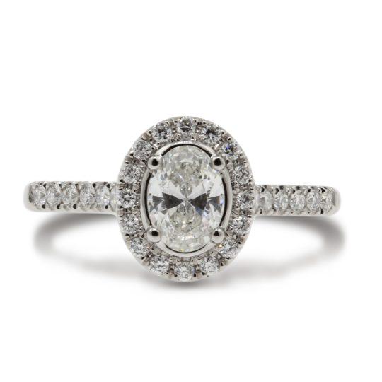 Platinum Skye Oval  0.54 Diamond Ring