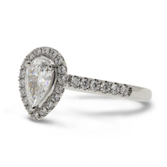 Platinum Pear 0.50ct Diamond Ring