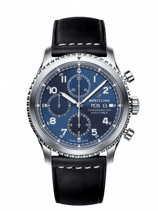 Breitling Navitimer 8 43mm Black Steel Gents Watch