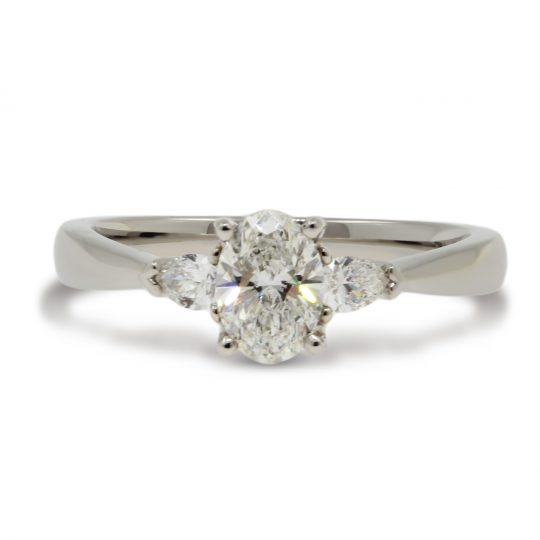 Platinum Florentine 0.60ct Diamond Ring