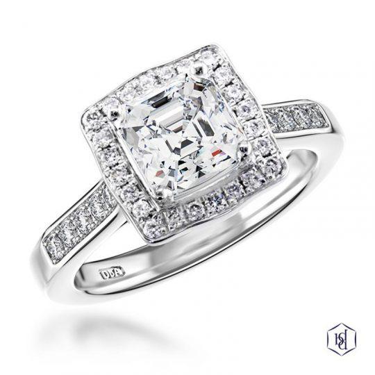 Platinum 1.01ct Diamond Engagement Ring