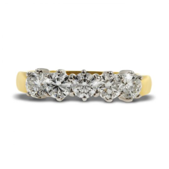 18ct Yellow Gold Diamond Cocktail Ring