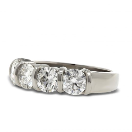 Platinum Diamond 4 stone Ring