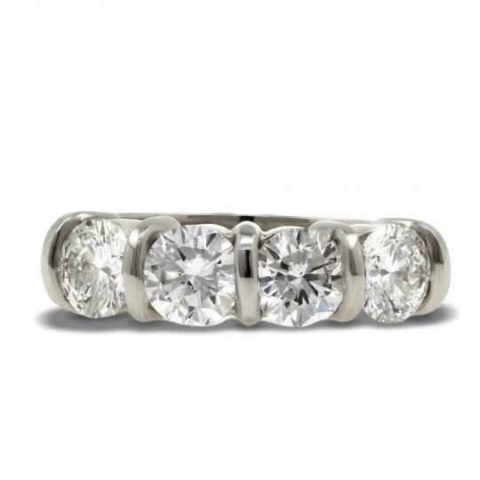 Platinum 2.04ct Diamond 4 stone Ring