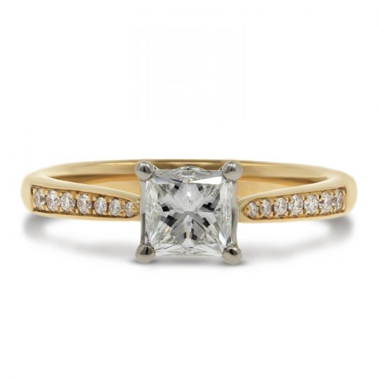 18ct Yellow Gold .91ct Diamond Ring