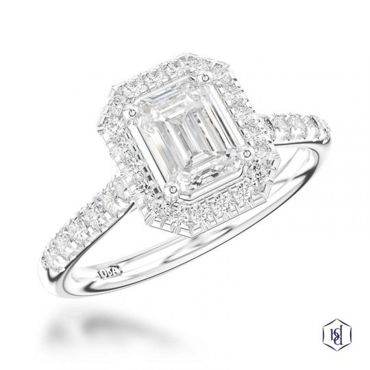 Platinum Cushion 1.22ct Diamond Engagement Ring