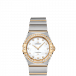 OMEGA Constellation Manhattan 28mm Steel and Yellow Gold Ladies Watch