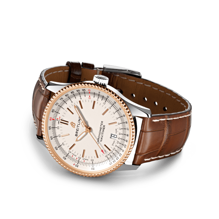 Breitling Navitimer 38mm Steel And Rose Gold Gents Watch Whittles