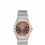 OMEGA Constellation Manhattan 28mm Steel and Sedna Gold Ladies Watch