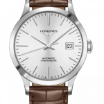 Longines Record 38.5mm Stainless Steel Watch