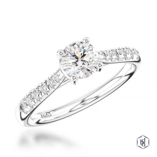 Platinum 0.76ct Diamond Skye Engagement Ring