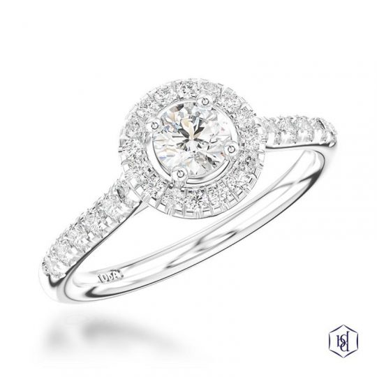 Platinum 0.61ct Diamond Engagement Ring